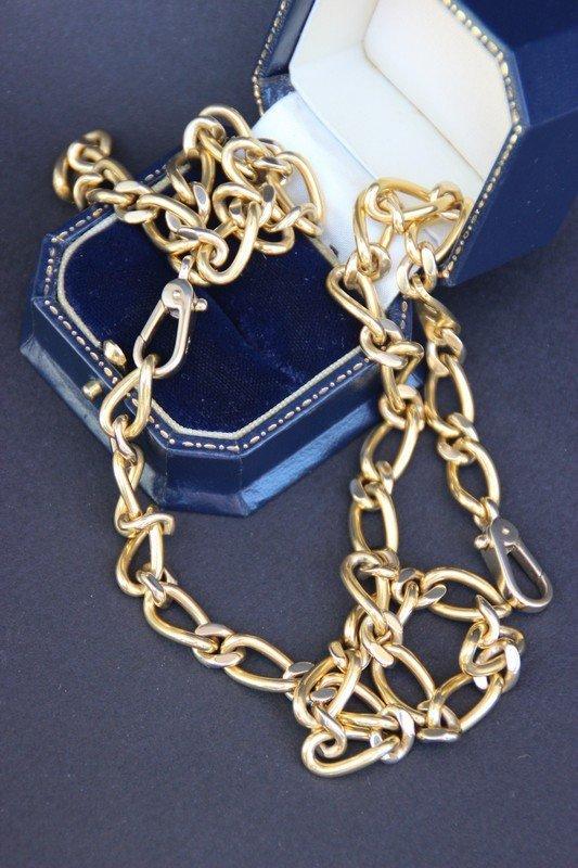 POMELATO Importante chaine en or jaune Longueur : 60 cm