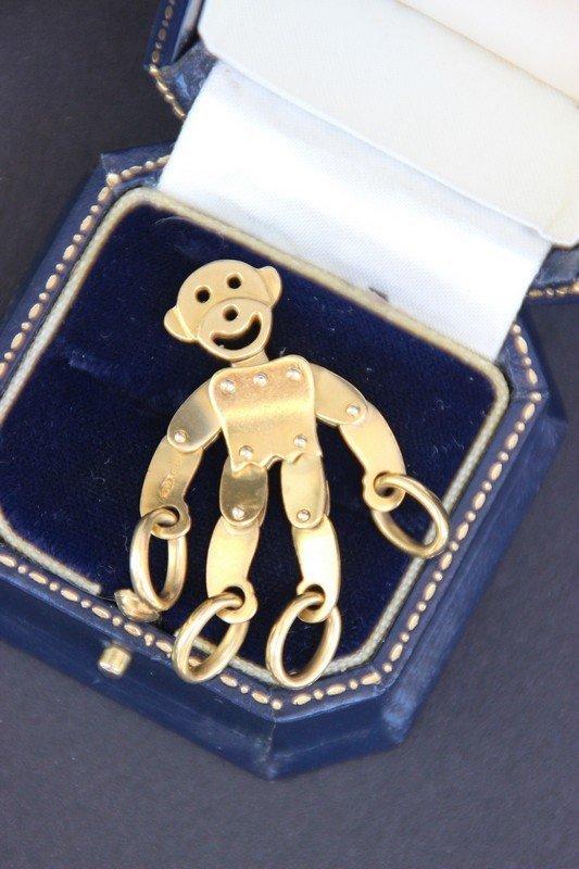 POMELLATO Pendentif en or jaune représentant un singe
