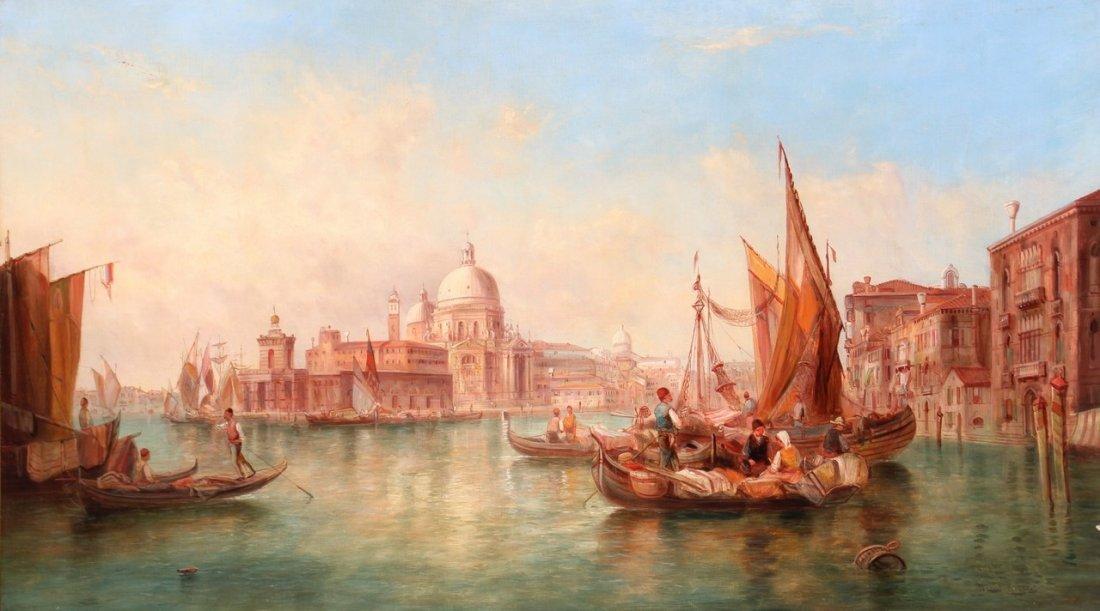 David ROBERTS (1796-1864) Venise, le grand canal et