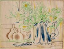 Françoise GILOT (née en 1921) Nature morte Lithographie