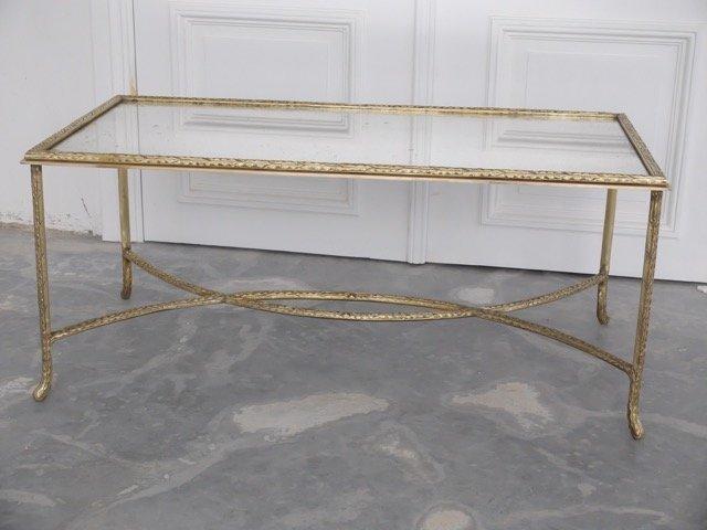BAGUES - vers 1965 Table basse à plateau rectangulaire
