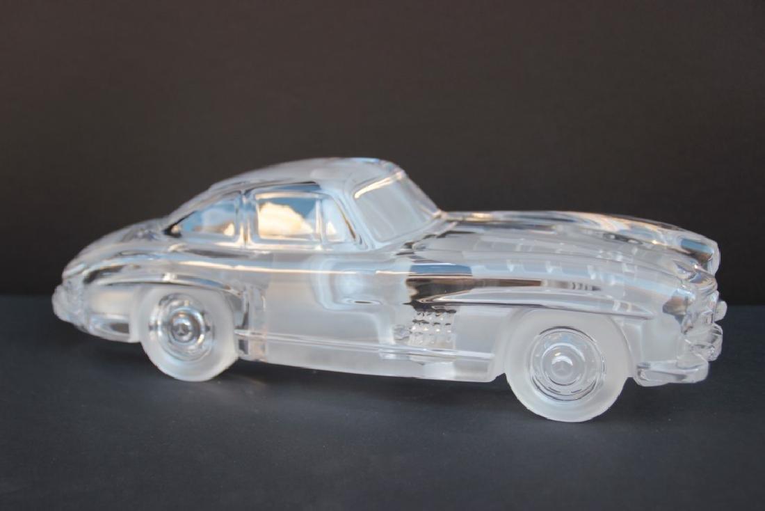 DAUM France Mercedes 300 SL en cristal moulé Signé en