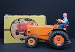 """RENAULT """"Tracteur agricole"""" en tôle Dans sa boite"""