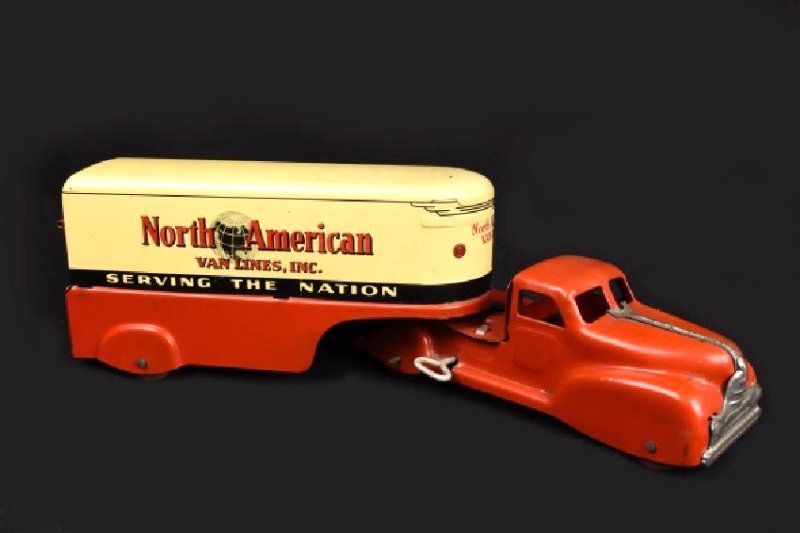 Marx North American Van Lines Wind-Up Toy Truck
