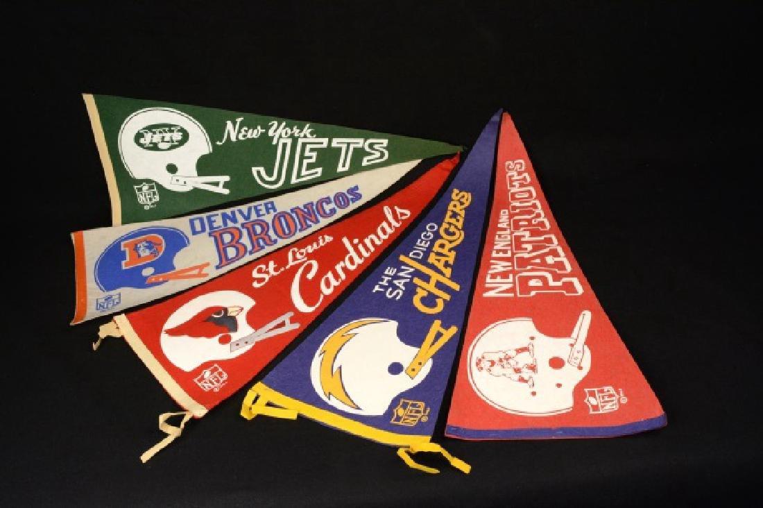 (5) 1967 NFL Football Pennants