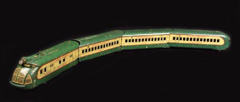 1930's Marx M-10000 Union Pacific Train W/ Cars