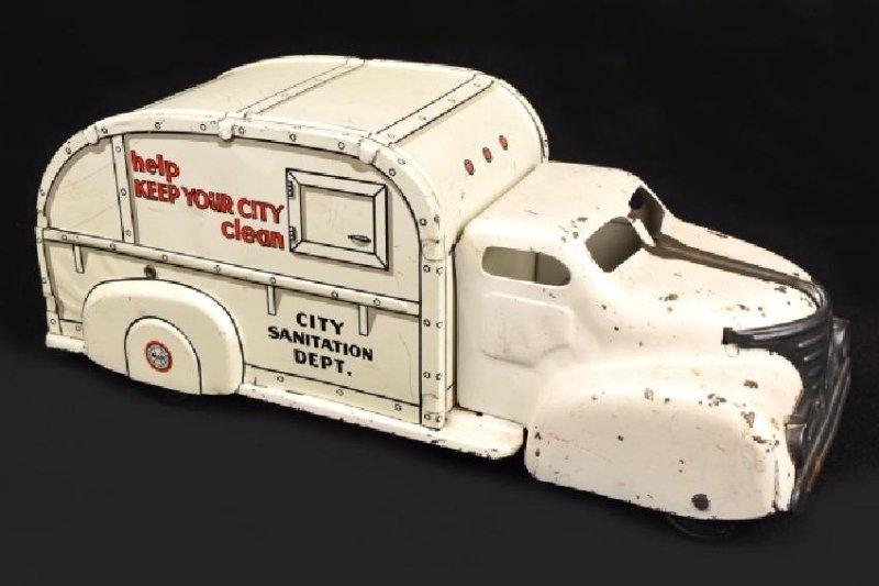 Vint. Marx City Sanitation Dept. Tin Toy Truck