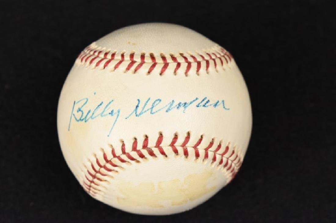 Billy Herman Autographed Wilson Official Baseball