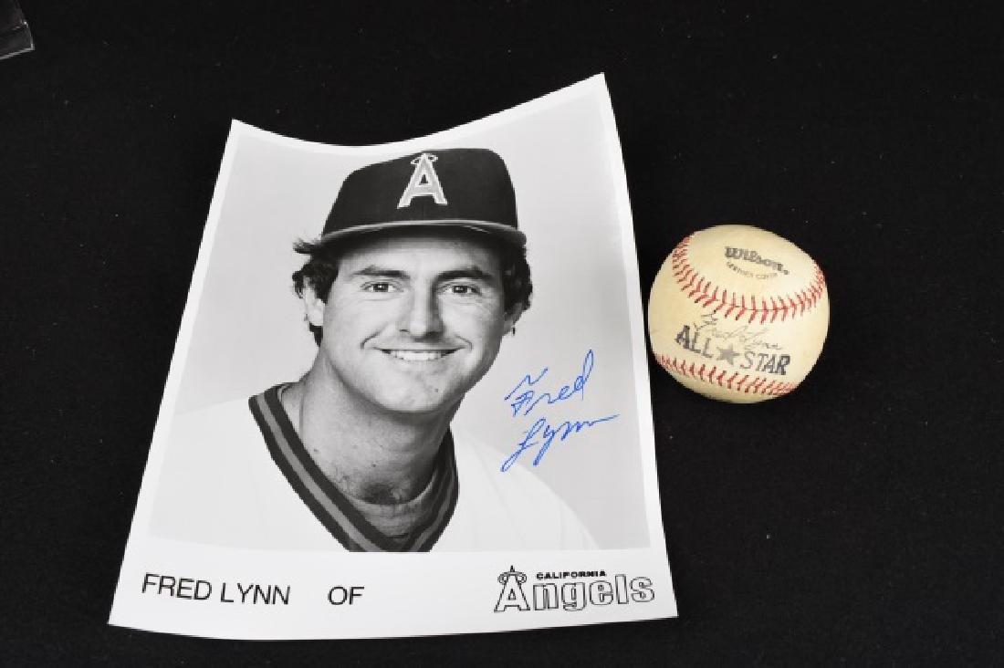 Rick Ferrell & Fred Lynn Autographed BB W/ Photo