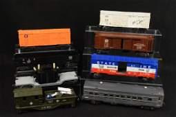 8 Lionel Train Cars