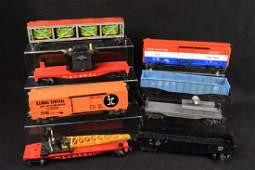8 Lionel Train Cars Post War 6660 Boom Car