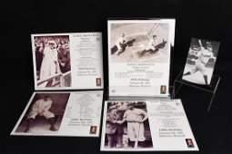 "(4) ""Babe"" Baseball Photo Files & Babe Ruth postcard"
