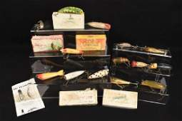 Vintage Fishing Lures & Boxes