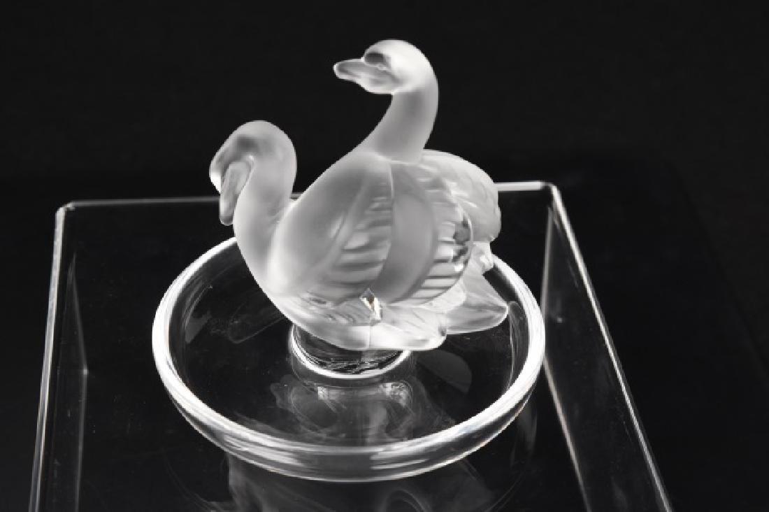 Lalique Crystal Bird Ring Dish