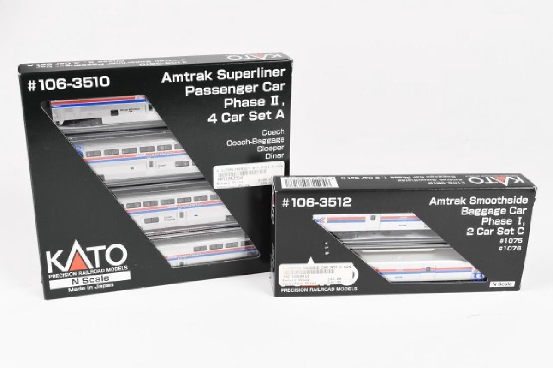 (2) Kato Precision Railroad model N scale Amtrak
