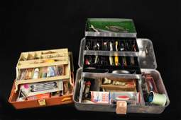 (2) Tackle boxes full w/ Lures (several Heddon)