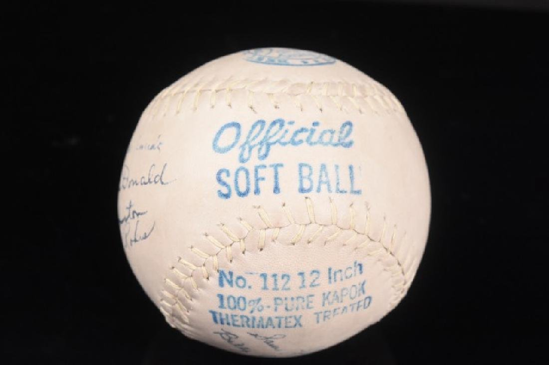 1940's Ft. Wayne Zollner Pistons Signed Softball