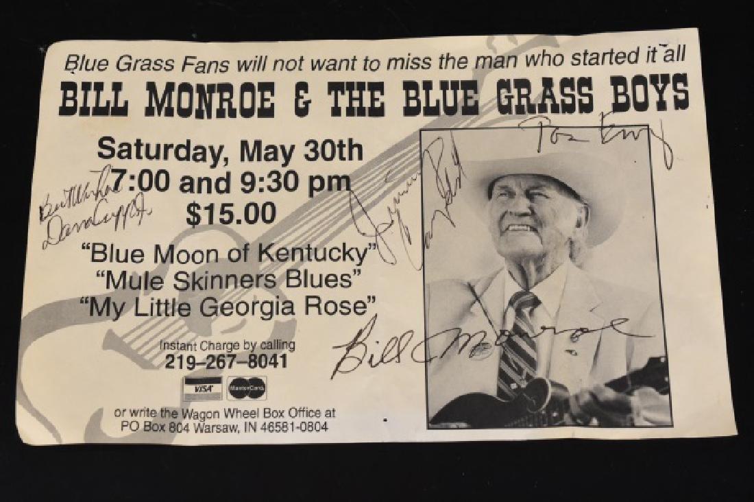 Bill Monroe & The Blue Grass Boys signed