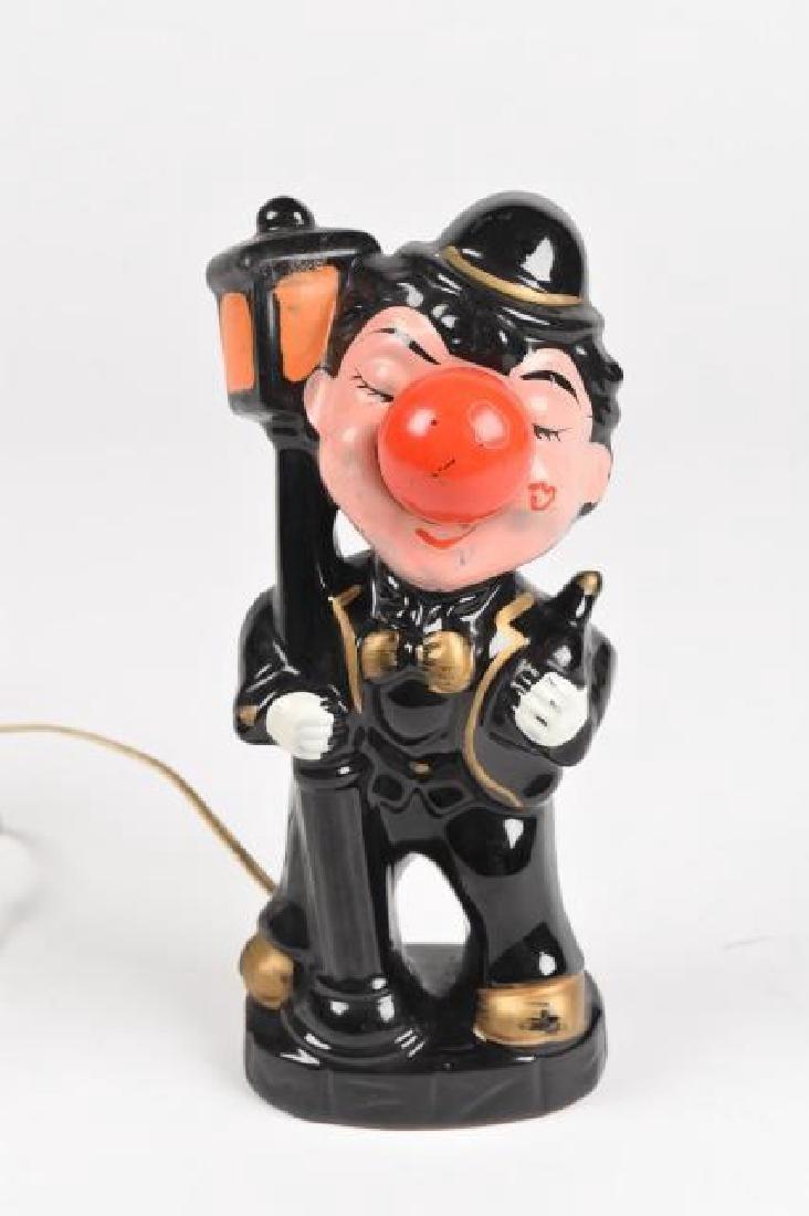 Vint. Hobo Clown light-up nose night light, WORKS!