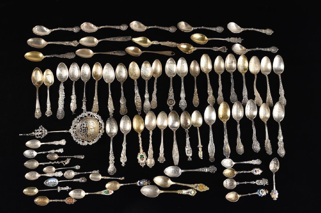 Collection of Sterling Souvenir Spoons
