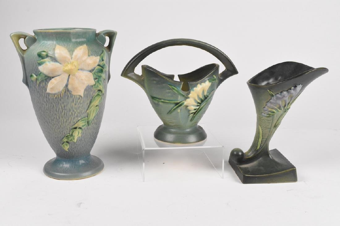 (3) Roseville Pottery Pieces