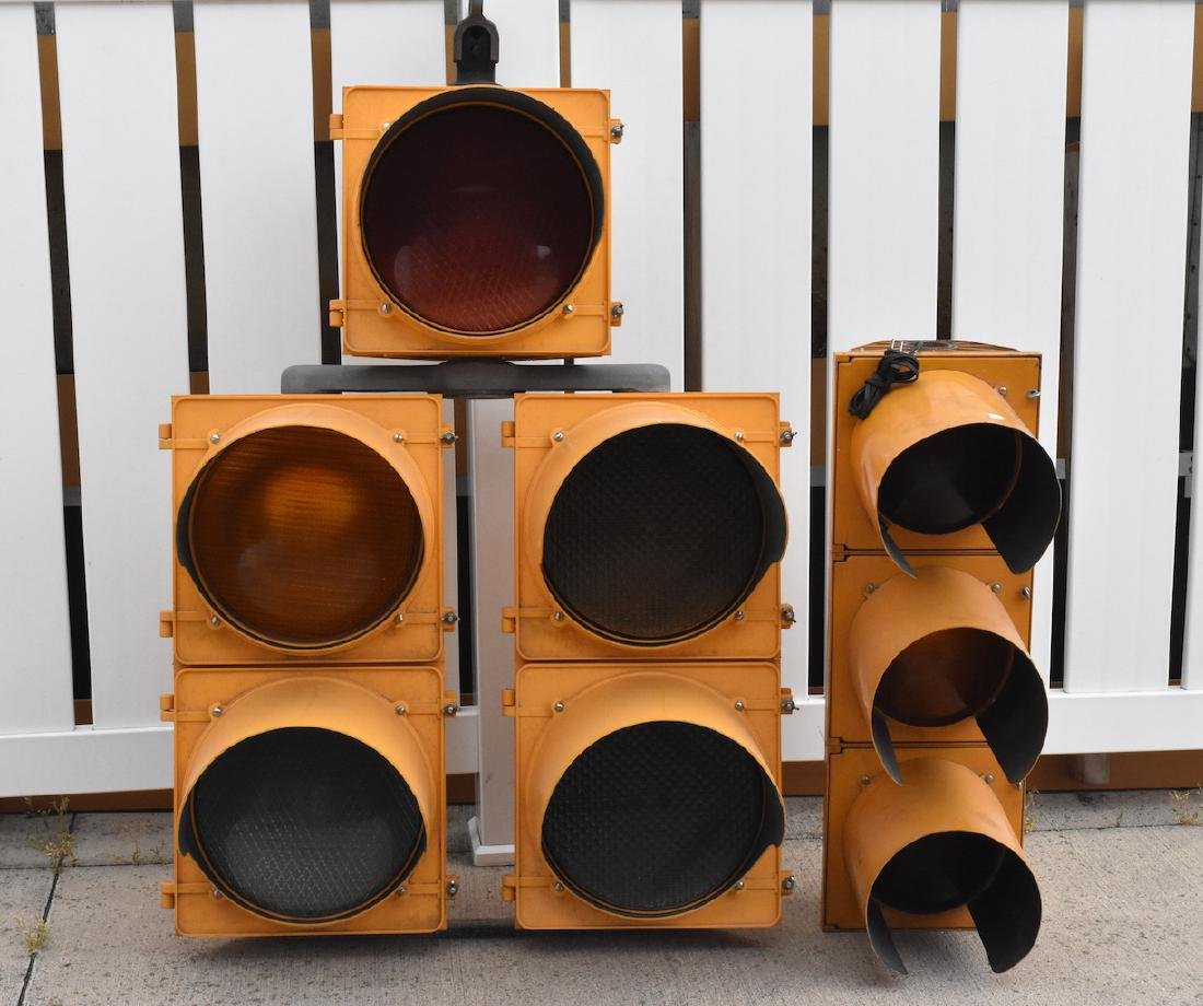 Set of Stop and Go Traffic Signal Lights