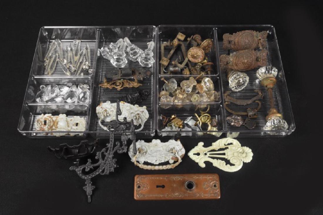 Antique Hardware; door knobs, pulls, crystals