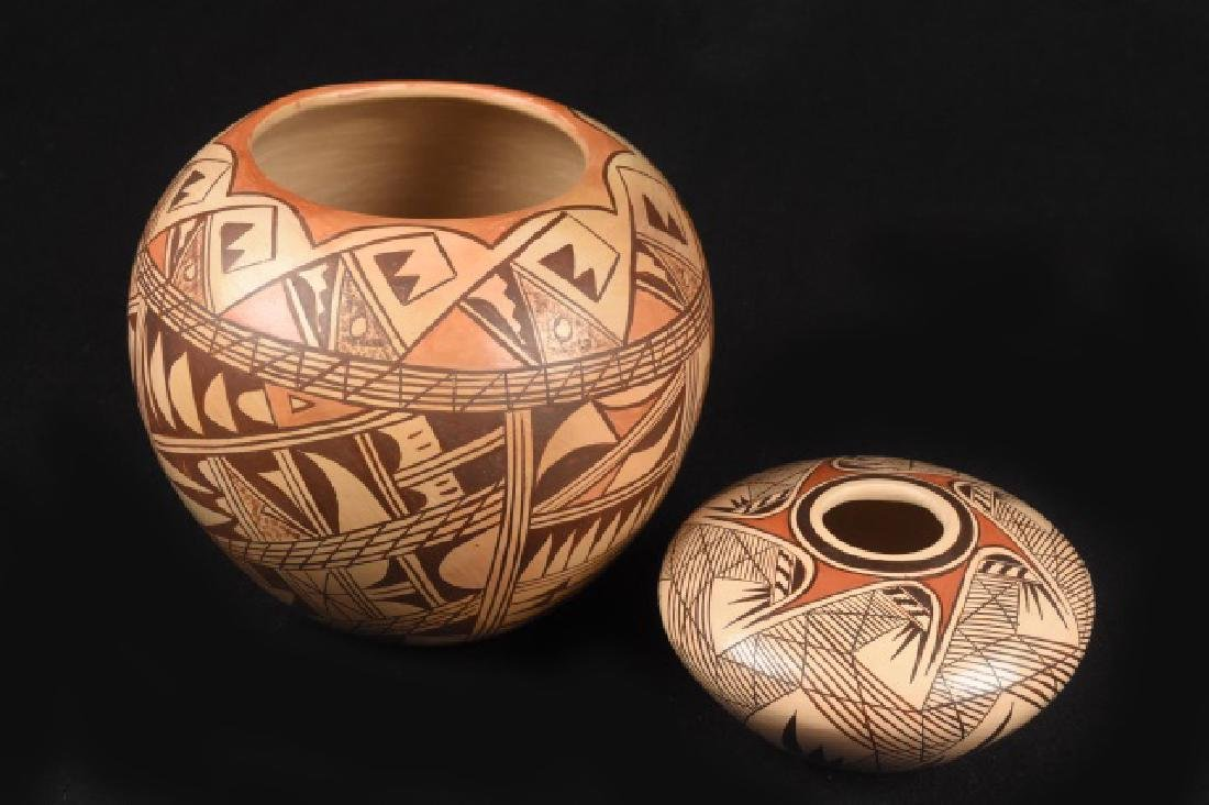 Hand painted Hopi Indian Pattern