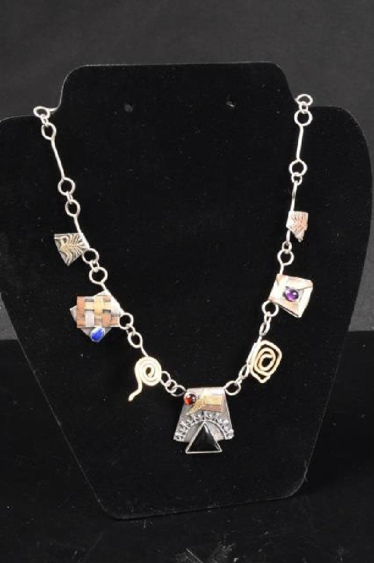 Unique Sterling Silver Men's Necklace
