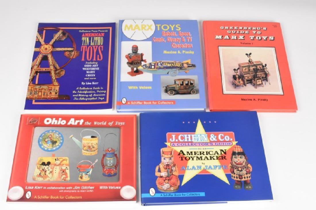 (5) Reference Guide Books on Tin Toys