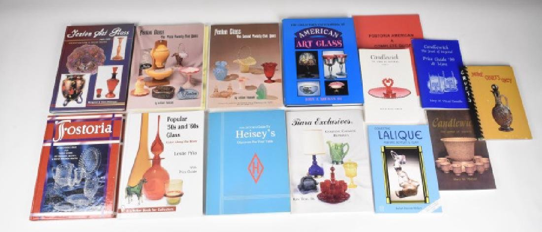 (14) Antique Glass Reference Books