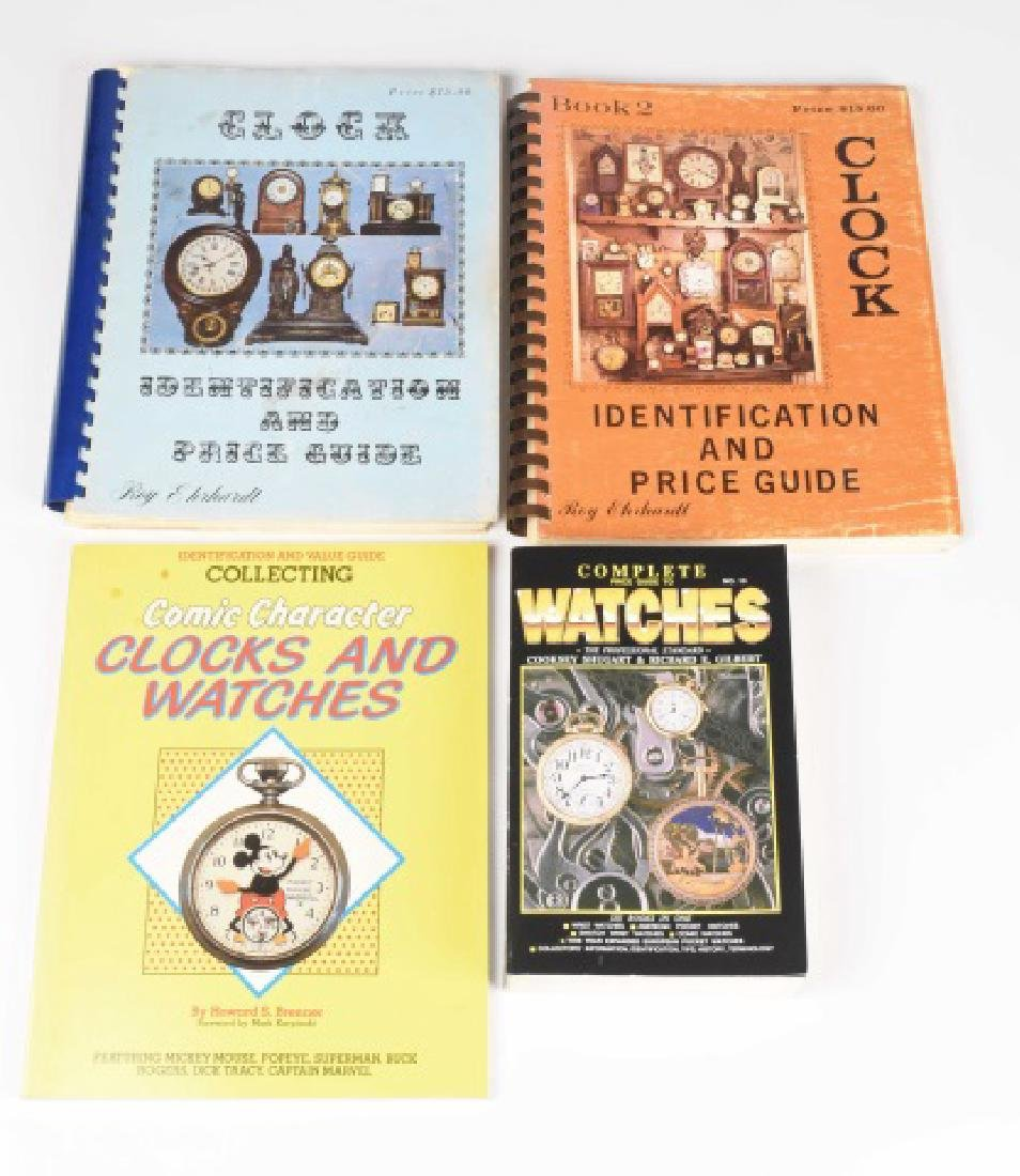 (4) Reference Books to Collecting Clocks & Watch