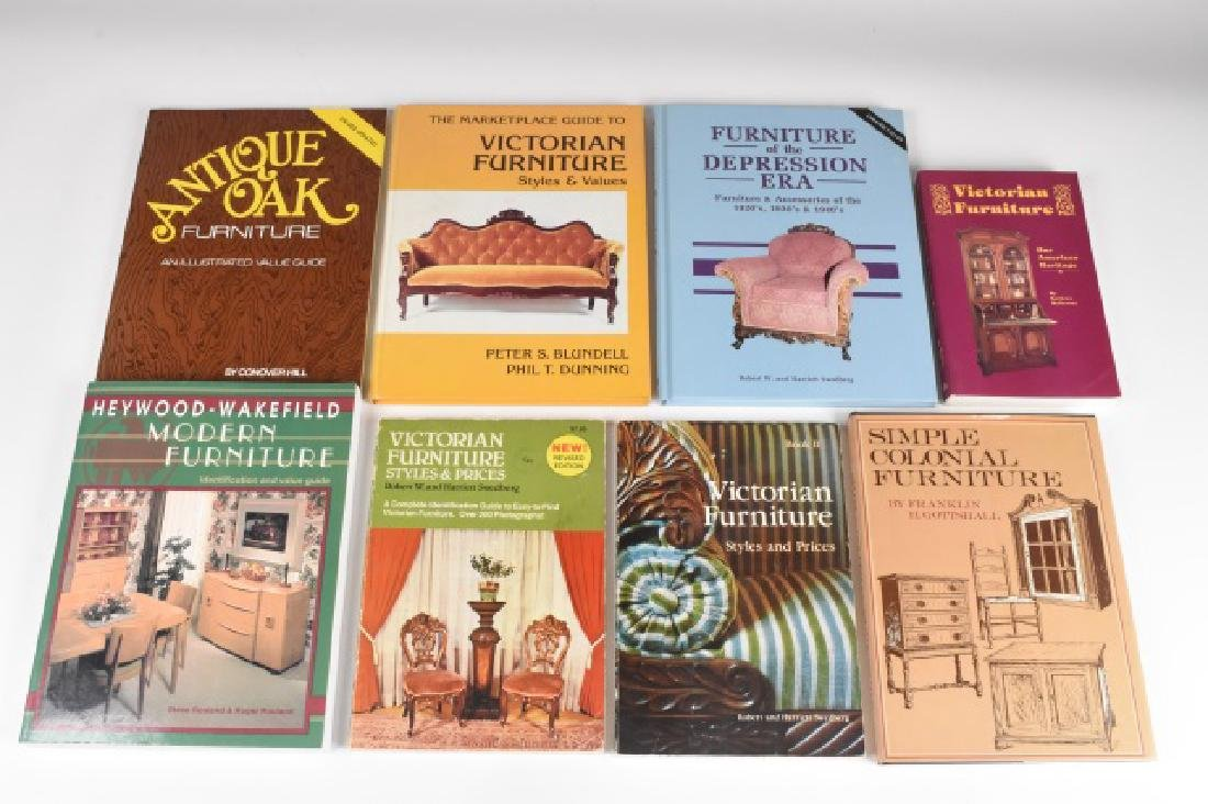 (8) Antique Furniture Reference Guides