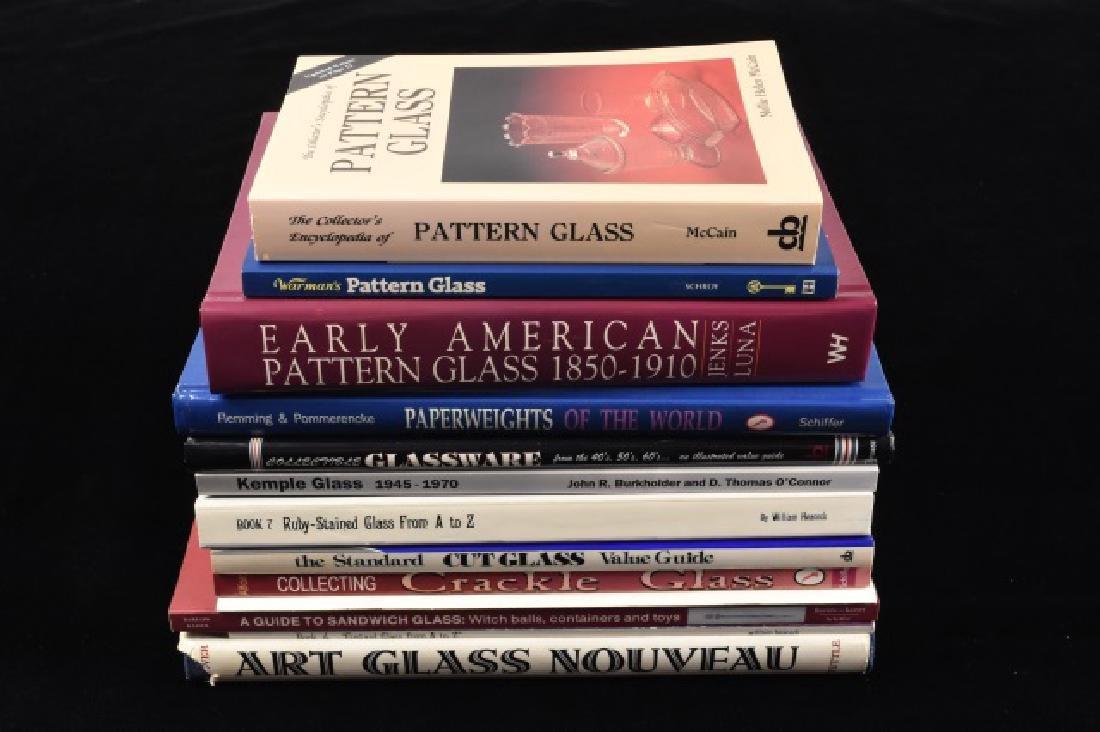 Assortment of (14) Ref. Books on Glass