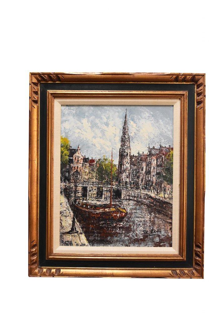 SLR Impressionist oil Painting of Amsterdam