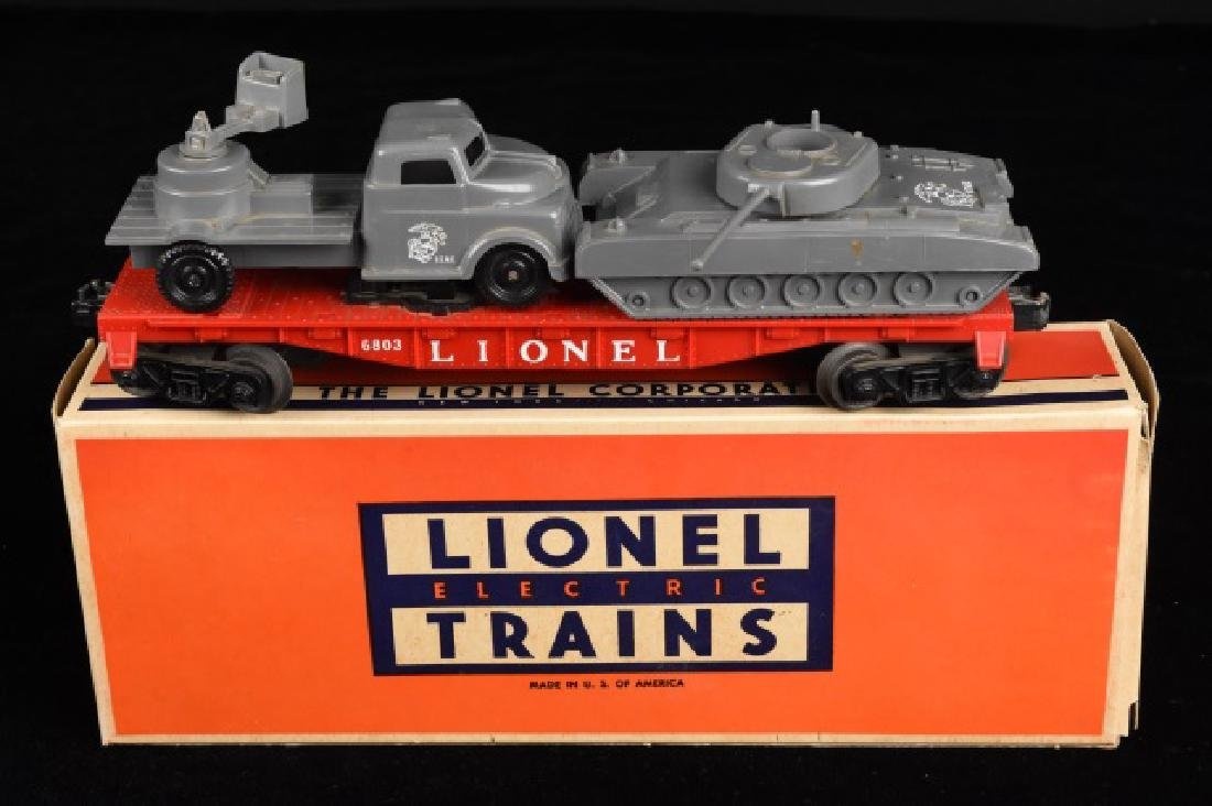 Lionel 6803 Flat Car with Military Units