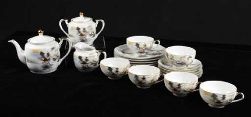 Katuni Geisha Girl Tea Set And Porcelain Bowls