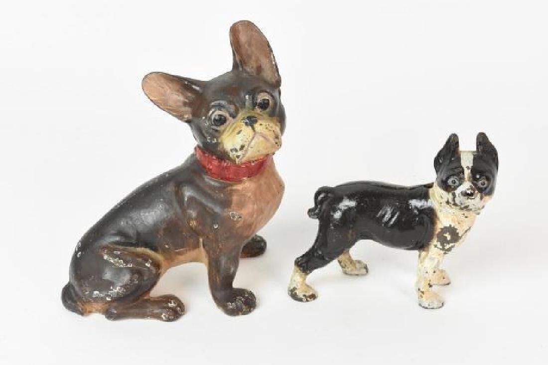 Cast Iron French Bulldog and Terrier