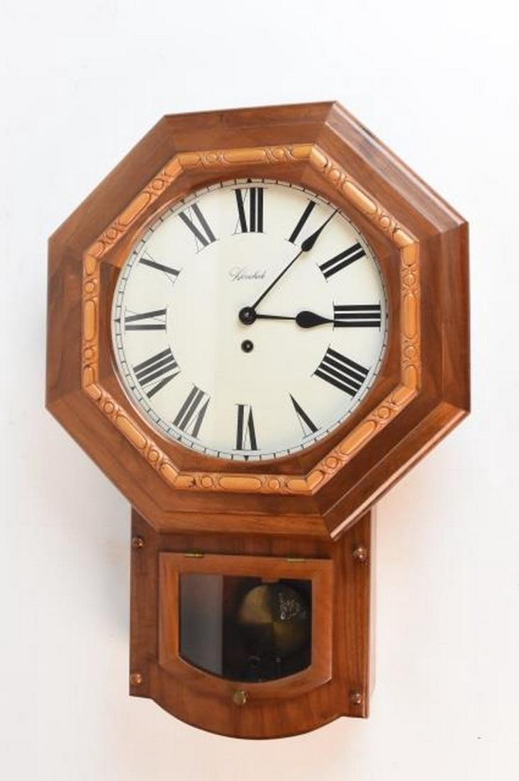 Herschede Pendulum Oak Wall Clock