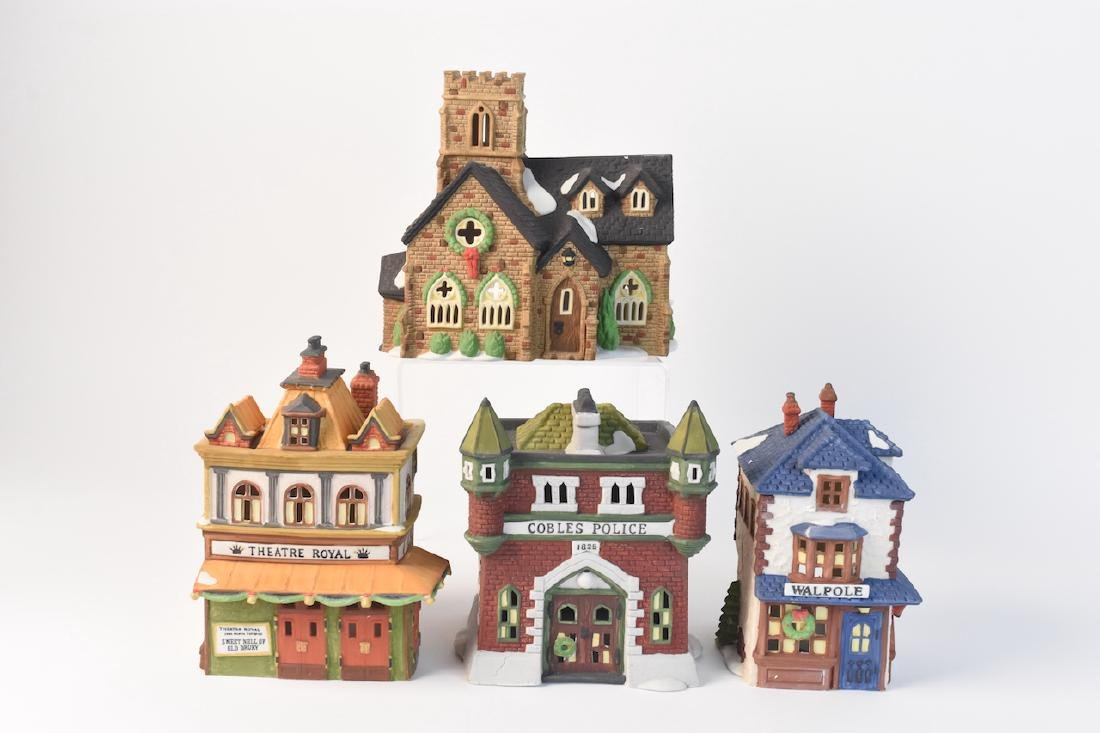 (4) Dept 56 Christmas Dickens' Village Series