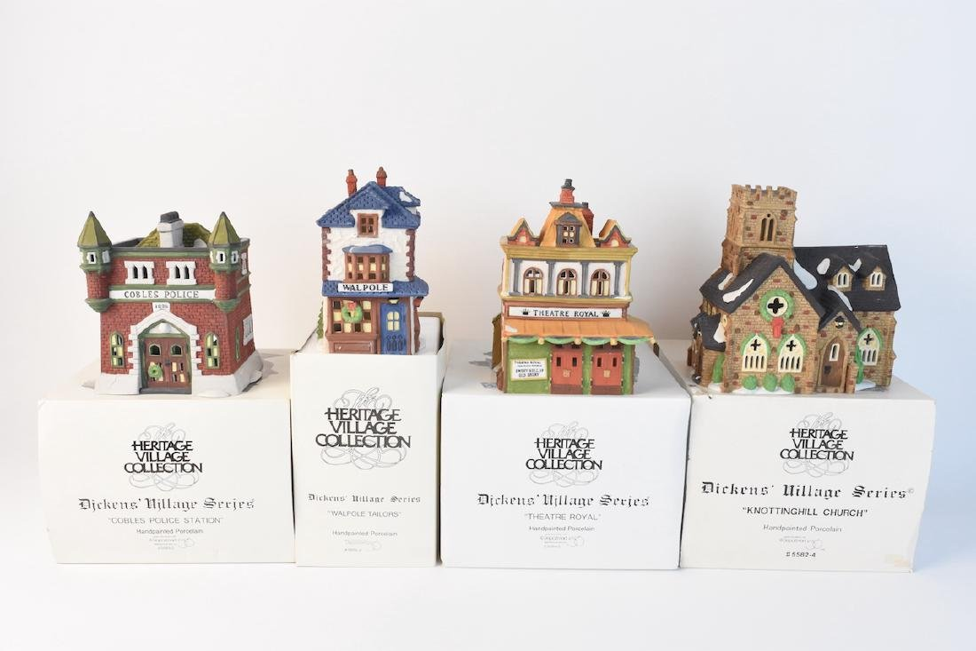 (4) Dept 56 Christmas Dickens' Village Series - 2