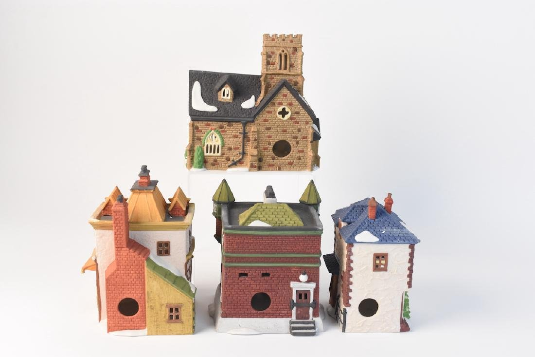 (4) Dept 56 Christmas Dickens' Village Series - 3