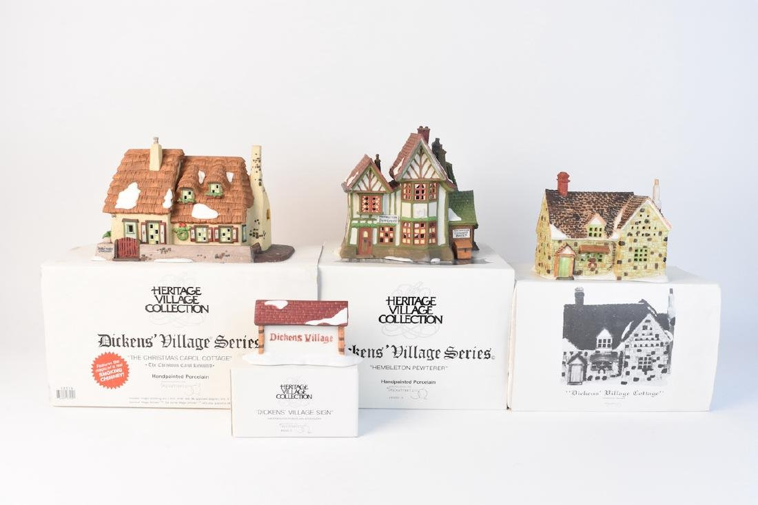 (4) Dickens' Village Christmas Series by Dept. 56 - 2