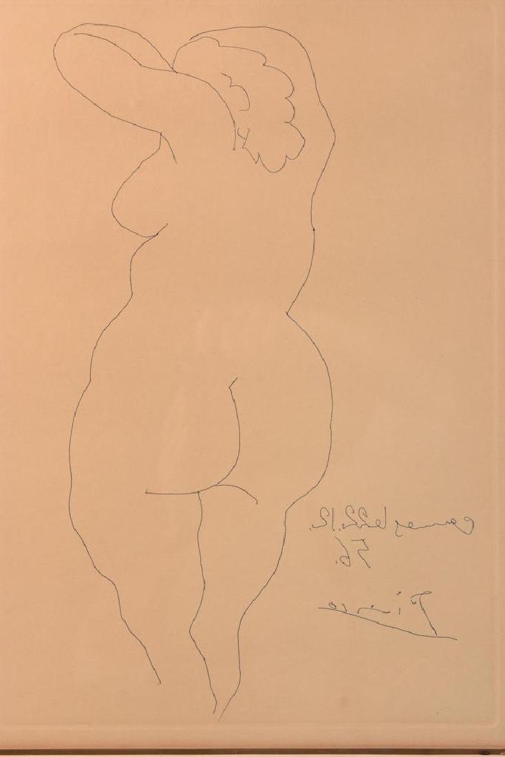 """Pablo Picasso 1956 Etching """"Nu De Dos"""" Print - 2"""