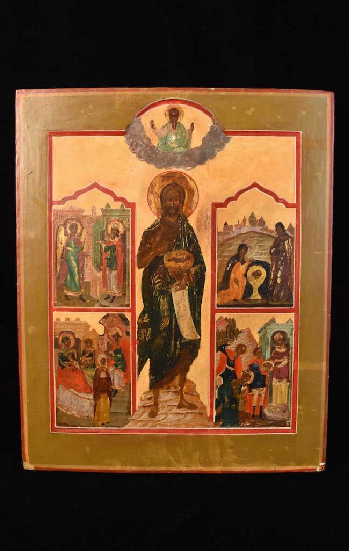 Russische Ikone; The Life of John the Baptist