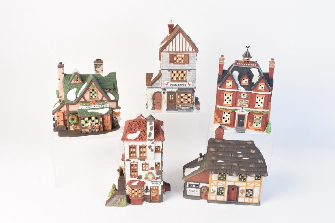 (4) Dickens' Village Christmas Series by Dept. 56