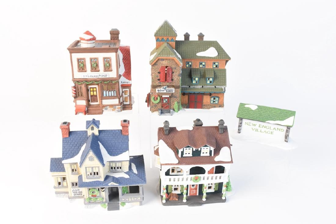(5) Dept 56 New England Village Series lot 21