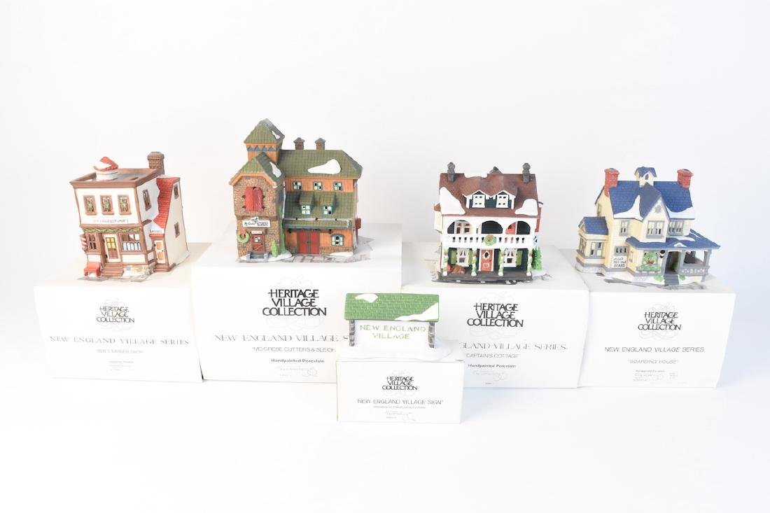 (5) Dept 56 New England Village Series lot 21 - 3