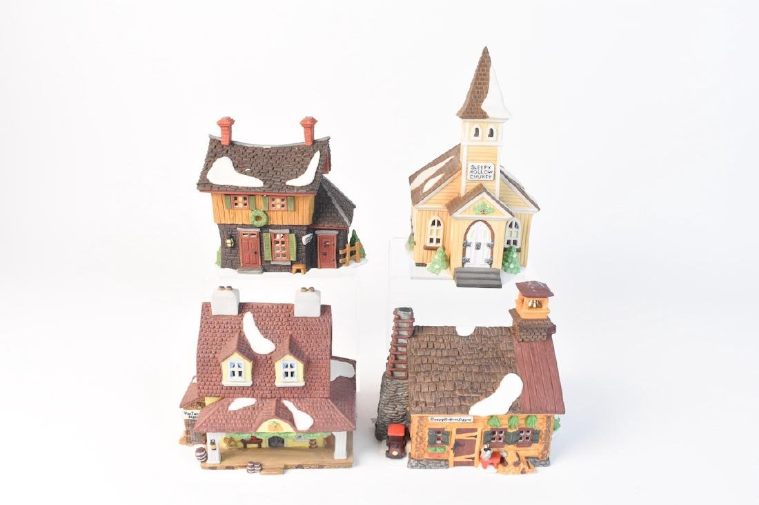 (4) Dept 56 Porcelain Sleepy Hollow Village