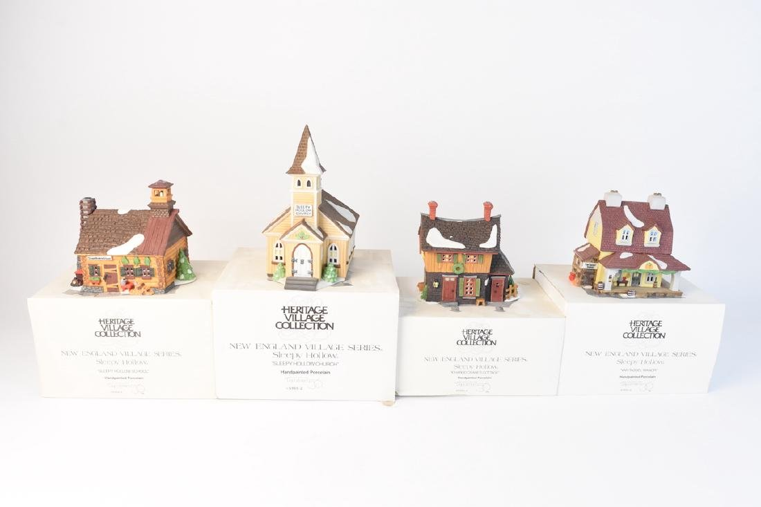 (4) Dept 56 Porcelain Sleepy Hollow Village - 2